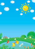 canetons de libellule de guindineau illustration libre de droits