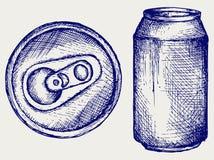 Canette de bière illustration de vecteur