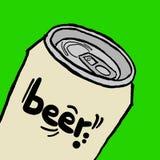 Canette de bière illustration libre de droits