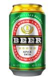 Canette de bière d'isolement sur le fond blanc illustration de vecteur