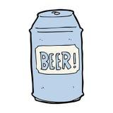 canette de bière de bande dessinée illustration de vecteur