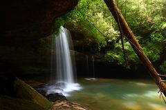 Caney Creek Falls in Alabama. Beautiful Caney Creek Falls in the William B Bankhead National Forest of Alabama Stock Photography
