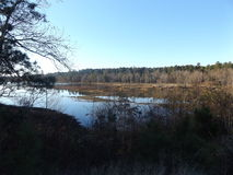Caney jezioro Obrazy Stock