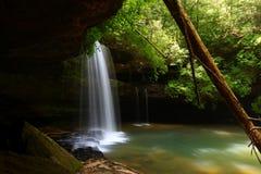Caney-Nebenfluss fällt in Alabama Stockfotografie