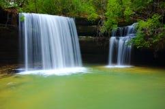 Caney-Nebenfluss-Wasserfall lizenzfreies stockbild