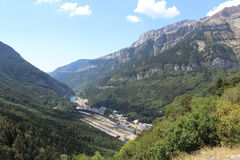 Canfranc Estación views. Canfranc estación views from Picaub stock photos