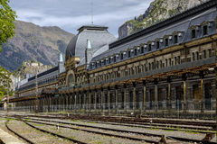 Canfranc railway station, Huesca, Spain Royalty Free Stock Photo