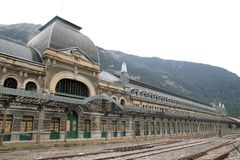 Canfranc train station old monument Spain Royalty Free Stock Image