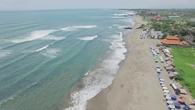 Canggu Batu Bolong Sky Beach Bali Indonesia Aerial 4k. 4k aerial footage of a beach on Bali, Indonesia stock footage