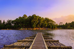 Cangkuang lake. A lake located in a city where in the middle of the lake there sebuat ancient housing, which is still well maintained Stock Images