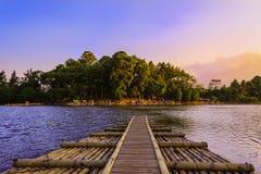 Cangkuang sjö Arkivbilder