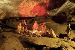 Cango grottaobygdsbor Arkivfoton