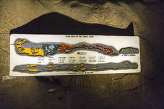 Cango scava la mappa all'entrata, deserto di karoo, Sudafrica Immagine Stock
