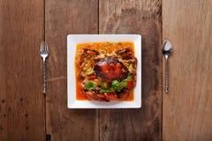 cangrejo Agitación-encendido en curry Imágenes de archivo libres de regalías