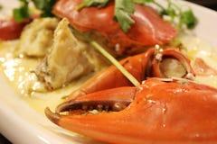 Cangrejo asiático de la comida del vapor fotografía de archivo