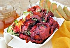 Cangrejo con pimienta negra Foto de archivo libre de regalías