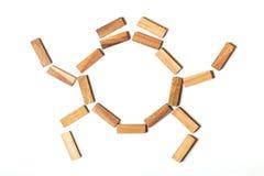 Cangrejo de madera Foto de archivo libre de regalías