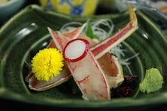 Cangrejo de rey del Sashimi Foto de archivo libre de regalías