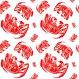 Cangrejo de rey rojo cocinado Ejemplo de la acuarela aislado en el fondo blanco Modelo incons?til fotos de archivo