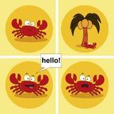 Cangrejo Cangrejo divertido divertido animación Ilustración del vector stock de ilustración
