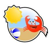 Cangrejo feliz del verano Fotografía de archivo libre de regalías