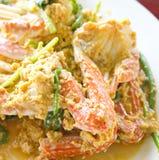 Cangrejo frito con el polvo de curry Imagen de archivo libre de regalías