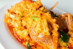 Cangrejo frito con el polvo de curry Imagen de archivo