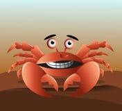 Cangrejo rojo lindo Fotografía de archivo libre de regalías