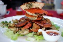 Cangrejos cocinados deliciosos Foto de archivo