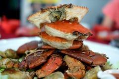 Cangrejos cocinados deliciosos Fotos de archivo