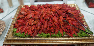 Cangrejos cocinados rojos Imagenes de archivo