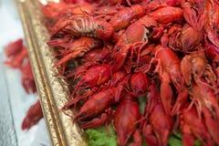 Cangrejos cocinados rojos Foto de archivo