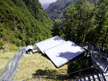 Cangshan Mountains cable station Stock Image