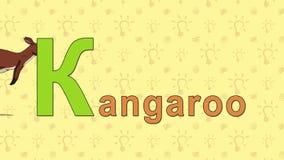 Canguro Alfabeto inglese dello ZOO - lettera K royalty illustrazione gratis