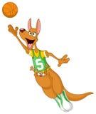 Canguro del baloncesto stock de ilustración