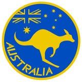 Canguro del icono stock de ilustración