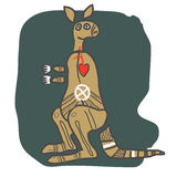 Canguro, figura del fumetto Fotografie Stock