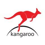 Canguro Logo di salto di vettore Simbolo dell'icona Immagine Stock Libera da Diritti