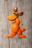 Canguru engraçado feito dos frutos fotografia de stock royalty free