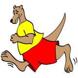 Canguru Running Foto de Stock Royalty Free