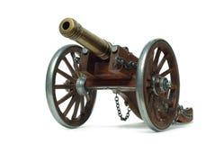 Canhão antigo nas rodas Fotos de Stock Royalty Free