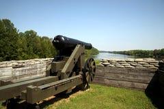 Canhão confederado fotografia de stock royalty free