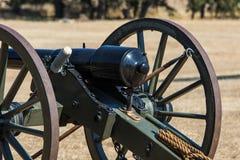 Canhão da era da guerra civil fotos de stock