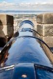 canhão da Focinho-carga no castelo Escócia Reino Unido de Edimburgo Imagem de Stock