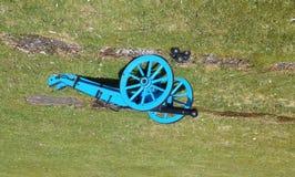 canhão da Focinho-carga no transporte de arma de madeira Foto de Stock