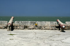 Canhão da parede de Cartagena Fotos de Stock