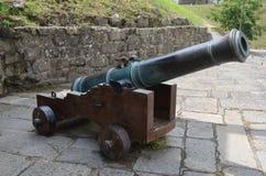 Canhão de bronze português imagens de stock