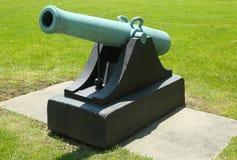 canhão de 12-pounder Napoleon, modelo de 1857 com os punhos na base de exército dos EUA de Hamilton do forte em Brooklyn Fotos de Stock