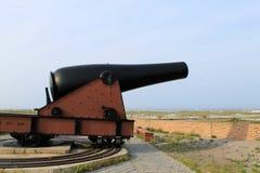 Canhão do campo de batalha fotografia de stock