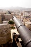 Canhão do castelo do console de Ibiza imagens de stock royalty free